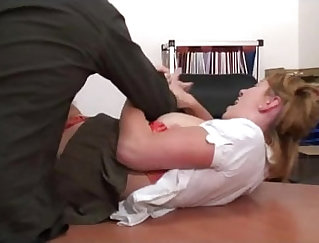 Anal punishment for nasty slut and feeding her holes by older sub behind