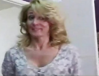 Big titted mom masturbating on the table