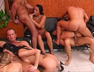 Amazing raven haired Kalia has unforgettable party sex