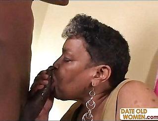 Cheating Black Grandma Giving Her Slaves A Tip