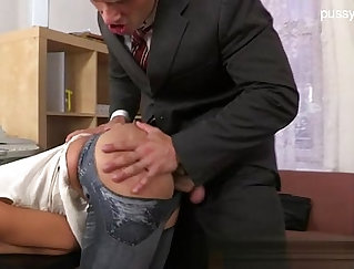 Busty Teen takes a Horny Dick