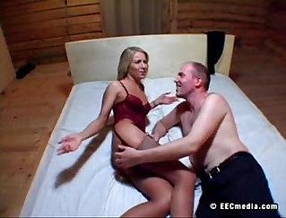 russian girlfriend fucked in a street