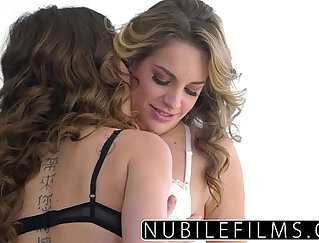Amazing Romantic Teens Try Out Their Lesbian Breasts