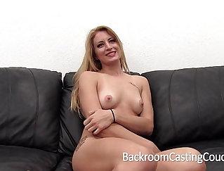 Annika Blond Casting Stiff Anal Creampie
