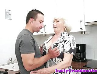 Babe Granny Enjoys Her Toys -Lizz STEELE