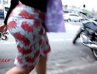 Big ass latina booty fucking in butt