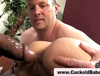 Crazy Cuckold On A Big Black Cock