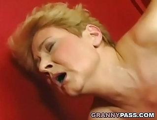 Cock Sucking Granny Slut Gets Creampied