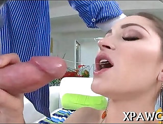 BAEB Hot Latina Chick Sucking & Riding Dick On Portable Oven Banging Table