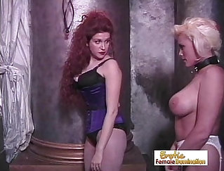 An awfully strict and sexy mistress needs to tighten her domination