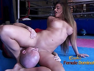 Bitchy looking woman is punished by perverted stud