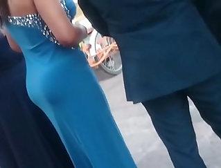 Busty MILF in Wedding Dress sucks with maledom
