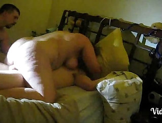 Cuckold Fucks Red Wife, Gets Fucked On Couch