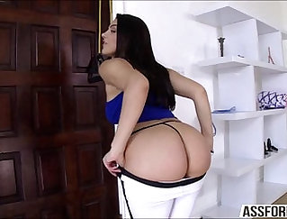 Brunette TS Tiff in her first interracial ever