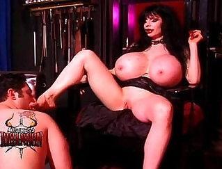 Busty Mistress Fucks Her Uniformed Slave