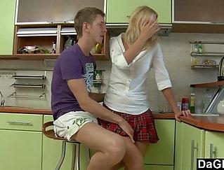 Camgirl Jennie Jordin Gets Anal Fucked In The Kitchen