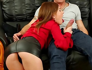 cum play in sexy leather boots