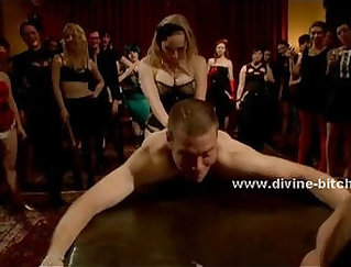 Best Friends Femdom Fucked At An Undressing Party