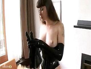 Allan Jaxxx bondage and on her private solo