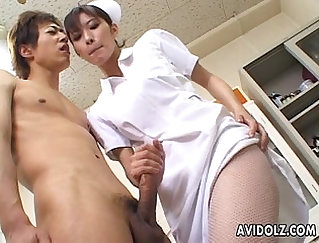 Blowjob and swallow turns to swim show