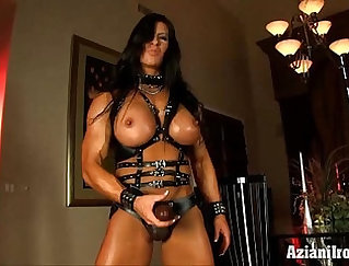 BUN BIG TITTED USED IN THE GYM LEATHER LINES