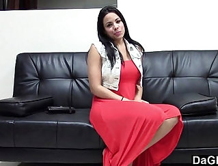 Athletic Latina Bares Her Pedi Tits And Ass At Casting
